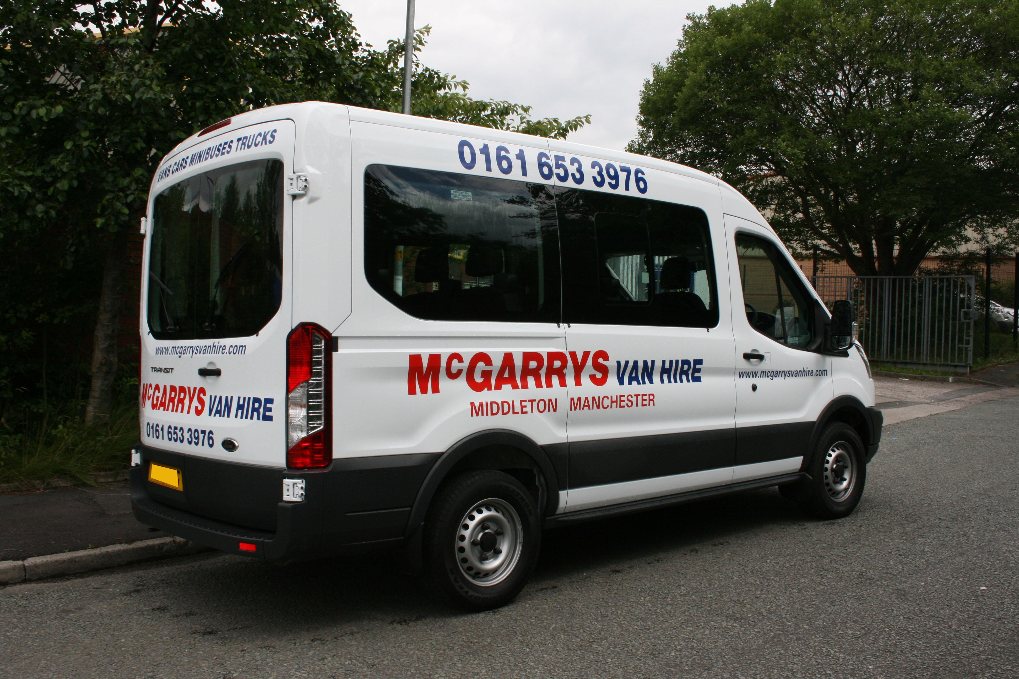 12 seat mini bus for hire mcgarrys van hire. Black Bedroom Furniture Sets. Home Design Ideas